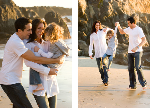 candid and real family photos in newport beach California