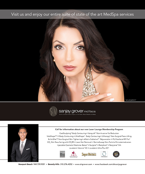 Photograph of Magazine Ad for Newport Beach Plastic Surgeon