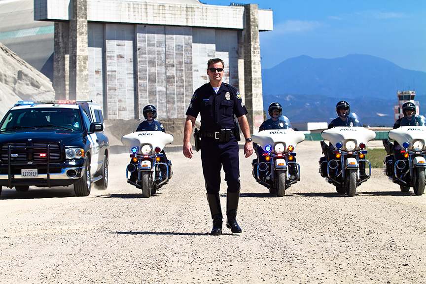 Photoshoot for Tustin Police Orange County CA