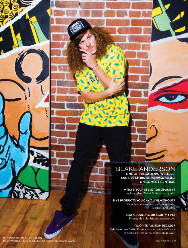 Fashion Photo of Blake Anderson from Workaholics taken in LA